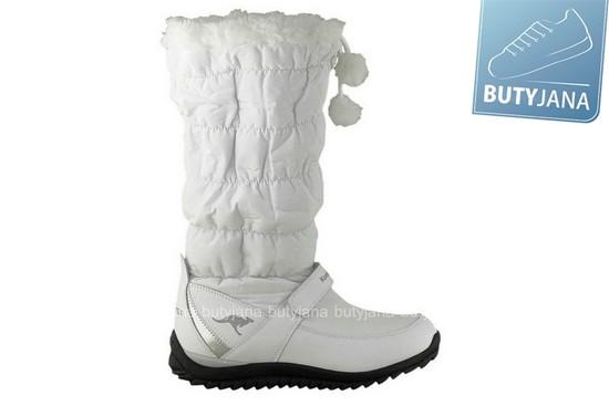 białe śniegowce damskie