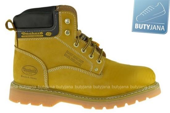buty dockers - żółte glany
