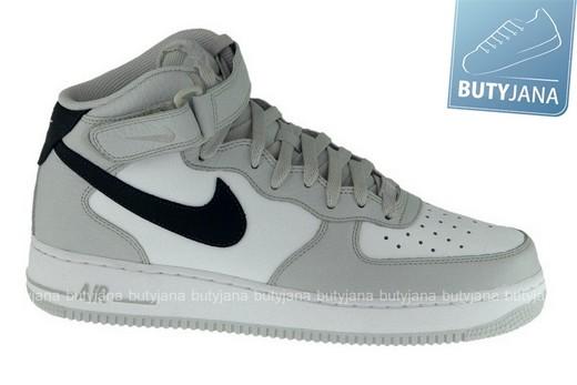 Buty Nike Air Force 1 Mid w wersji czarno białej. – Butyjana.pl