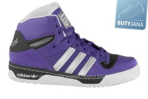buty adidas attitude sneakers fioletowe