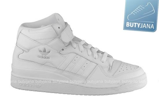 buty adidas forum mid białe