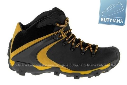 mcarthur buty trekkingowe  czarno żółte