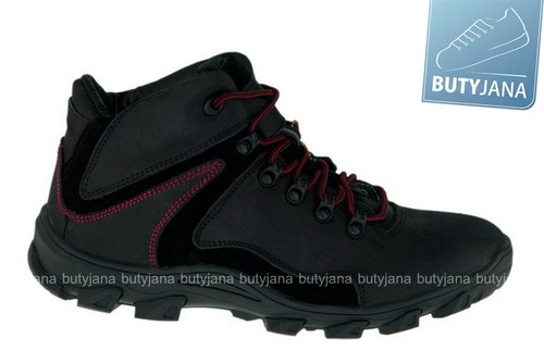 mcarthur buty trekkingowe  ciemno czarne