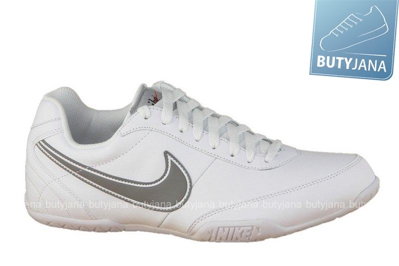 białe buty sportowe z logiem nike