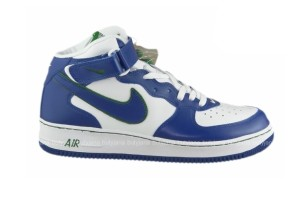 nike air force 1 mid niebiesko białe buty
