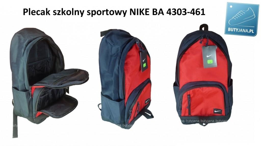 33533fe2f1c71 Plecak szkolny NIKE BA 4303-461 w wersji granatowo czerwonej ...