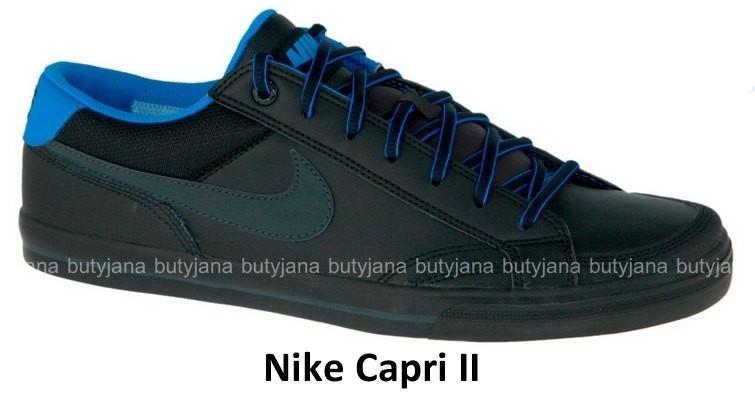 Czarne trampki skórzane Nike Capri II/2