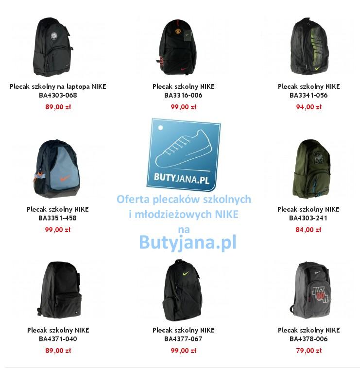 bf2e812ac5be3 Plecaki NIKE – szkolne i młodzieżowe najtaniej na Butyjana.pl ...