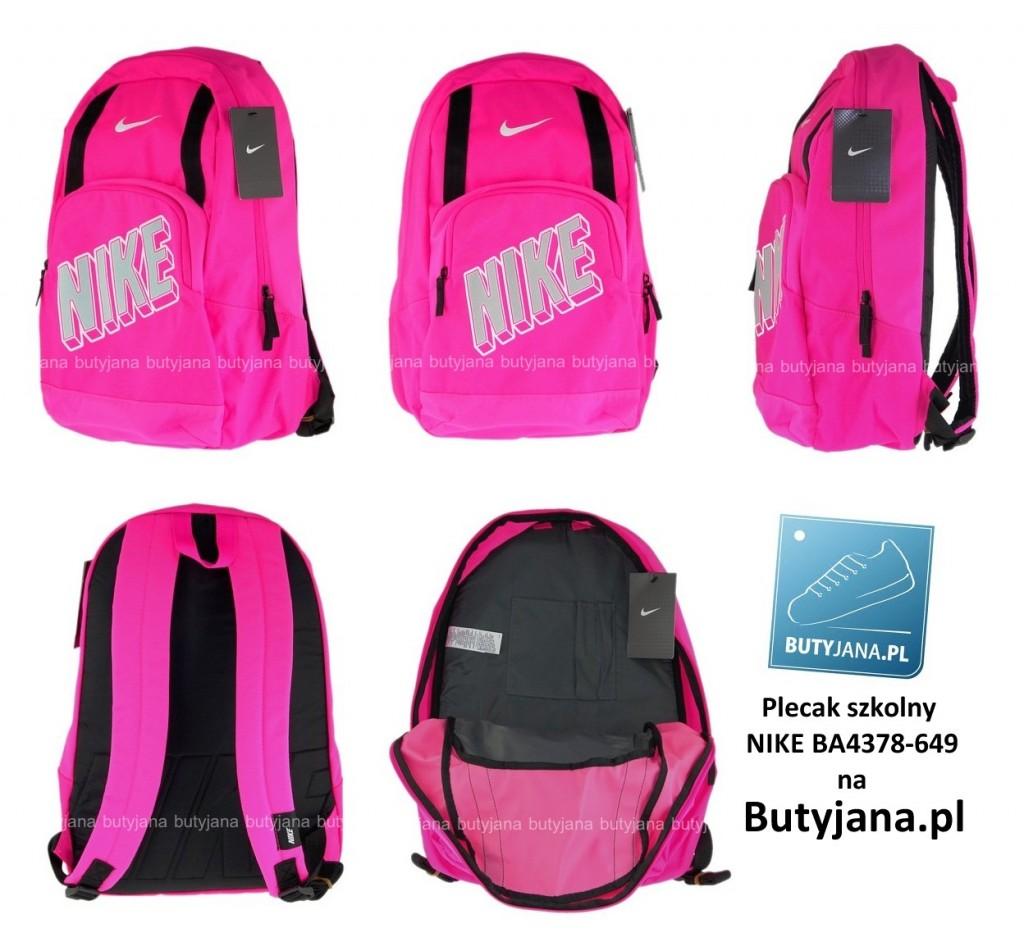 355b11eba2127 Różowy plecak szkolny Nike BA4378-649 – Butyjana.pl