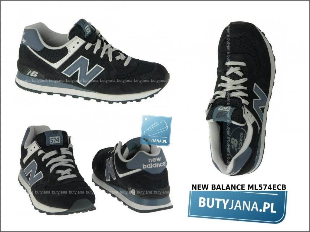 czarne new balance 574 - buty