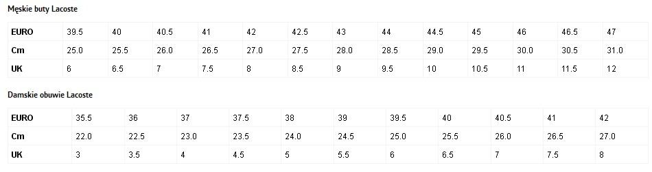 buty-Lacoste-tabela-rozmiarów-damskie-i-męskie