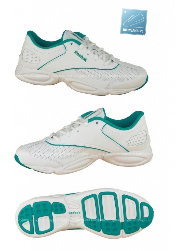 biało zielone buty sportowe reebok