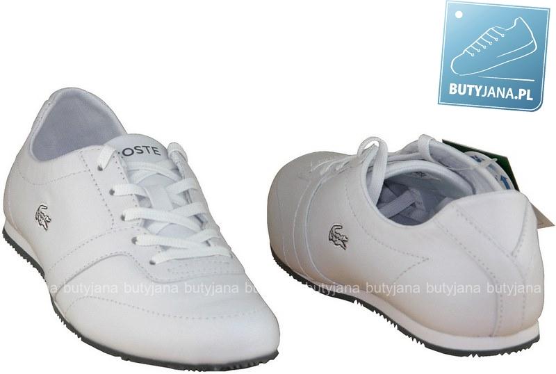 białe sportowe buty damskie marki Lacoste