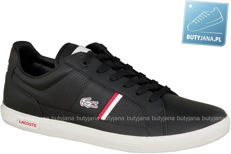lacoste europa czarne buty