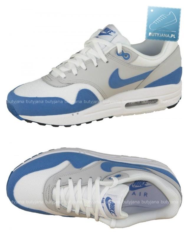 air max 1 biało niebieskie