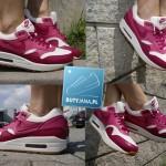 czerwono białe air max 1 dla dziewczyn