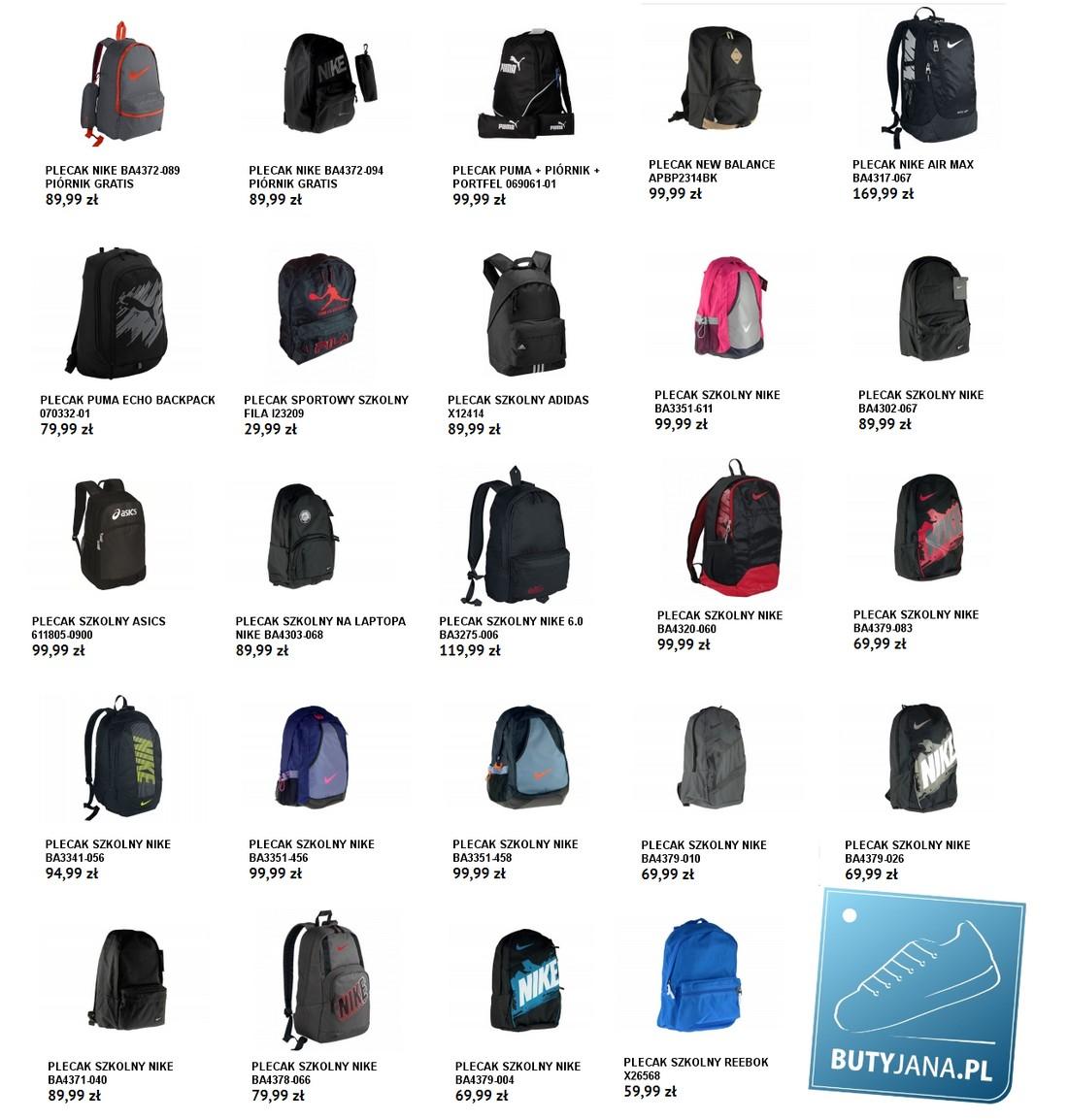 plecaki szkolne firmowe
