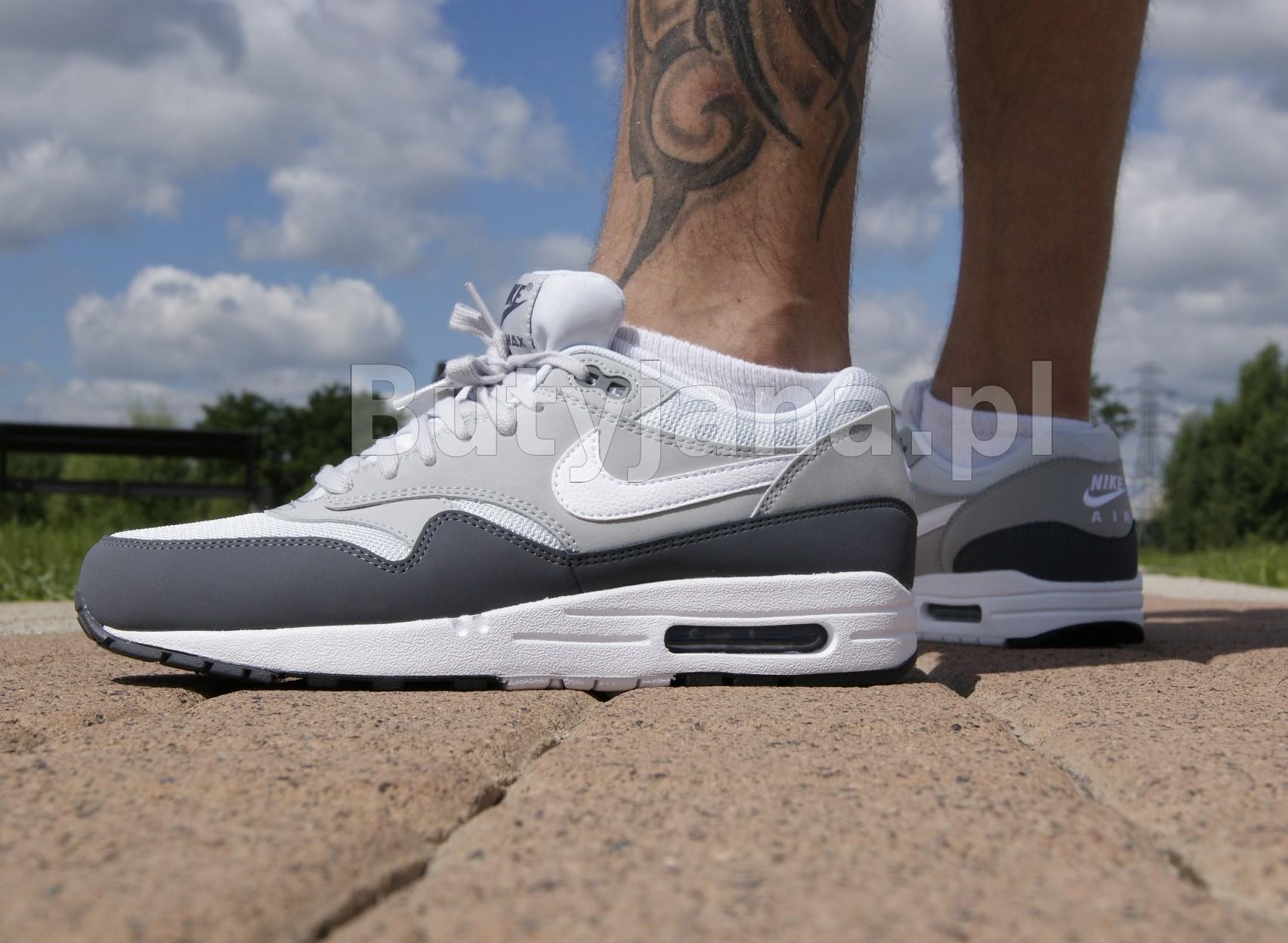 szaro białe buty nike air max 1