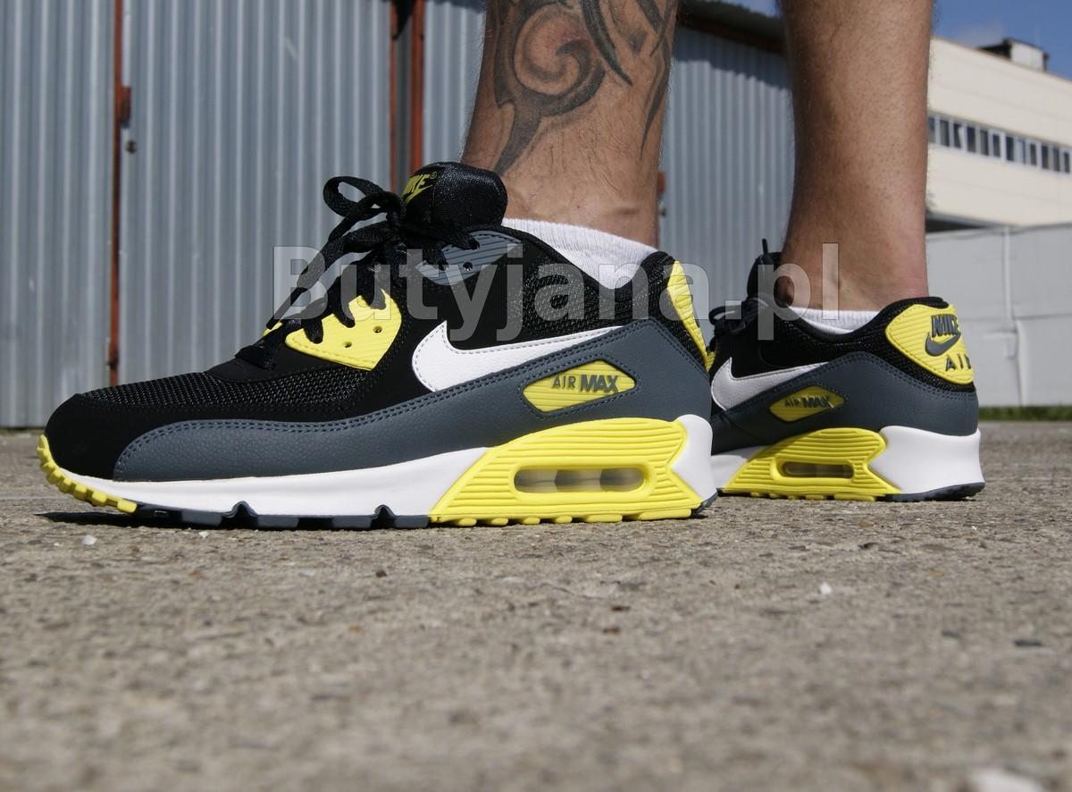nike air max 90 czarno żółte