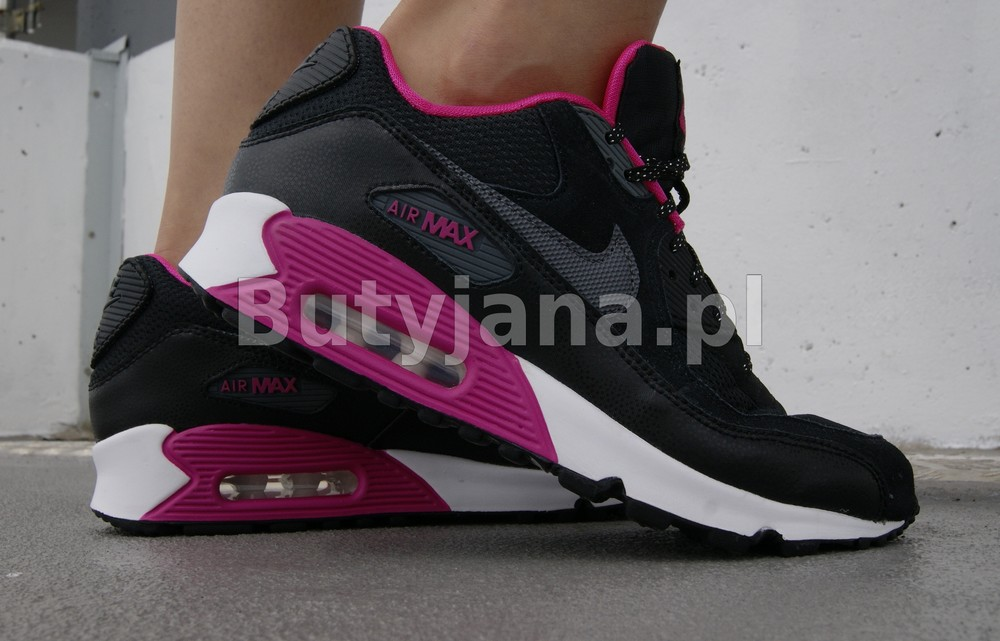 nike air max 90 czarno różowe damskie