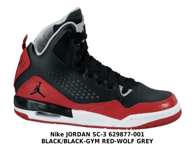 jordany czarno czerwone