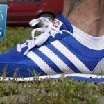 niebieskie adidasy