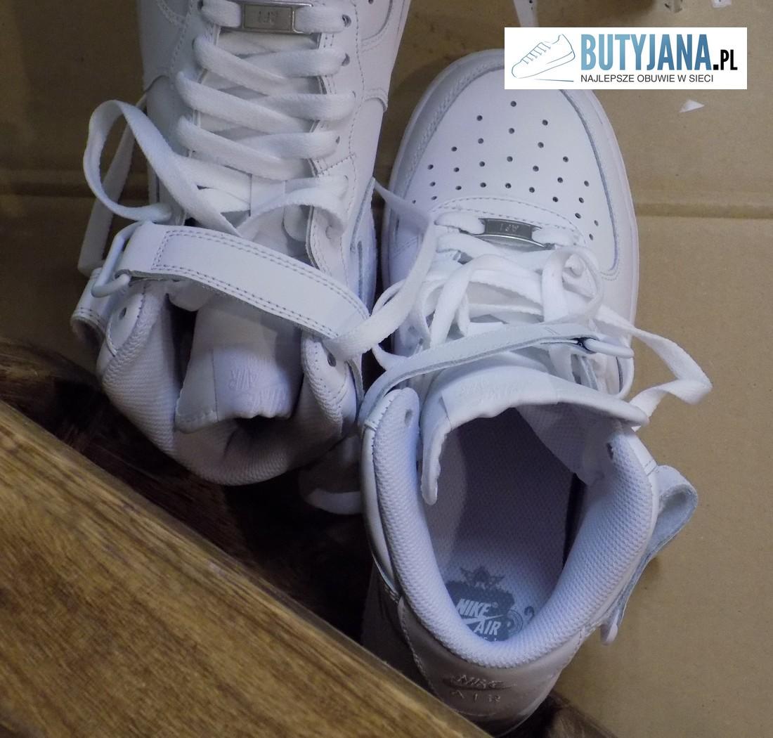 nike air force 1 białe męskie buty z wysoką cholewką