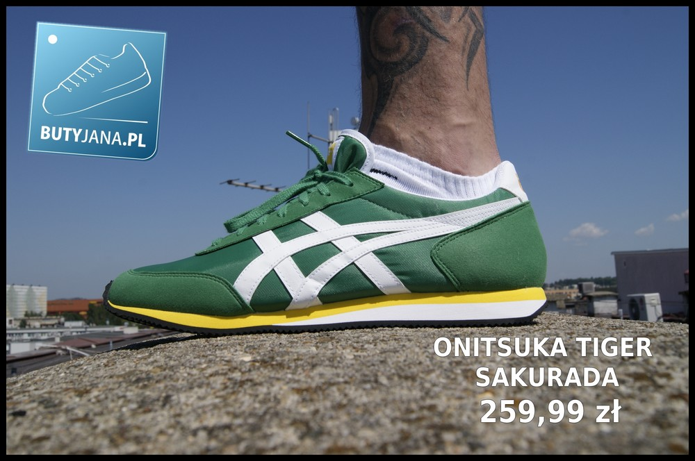 zielone buty sportowe onitsuka