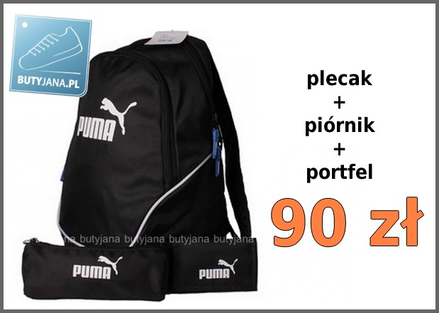 48edc5fab4da1 Plecak Puma + piórnik + portfel – świetny szkolny zestaw za jedyne ...