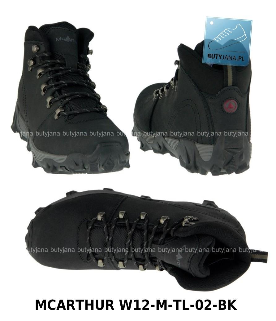 czarne buty trekkingowe mcarthur