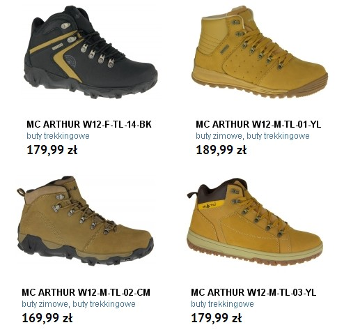 mc arthur buty na zimę