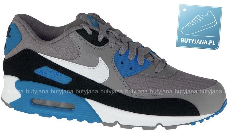 NIKE AIR MAX 90 ESSENTIAL SPORT GREY-WHITE – BLACK – PHT BL