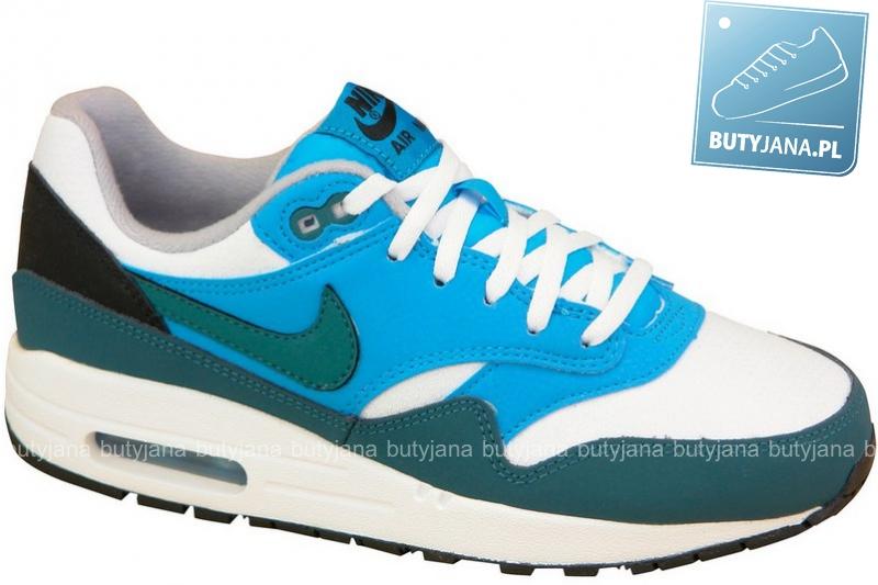new product c39d3 f955e Nike Air Max 1 Gs 555766-114 niebiesko białe damskie