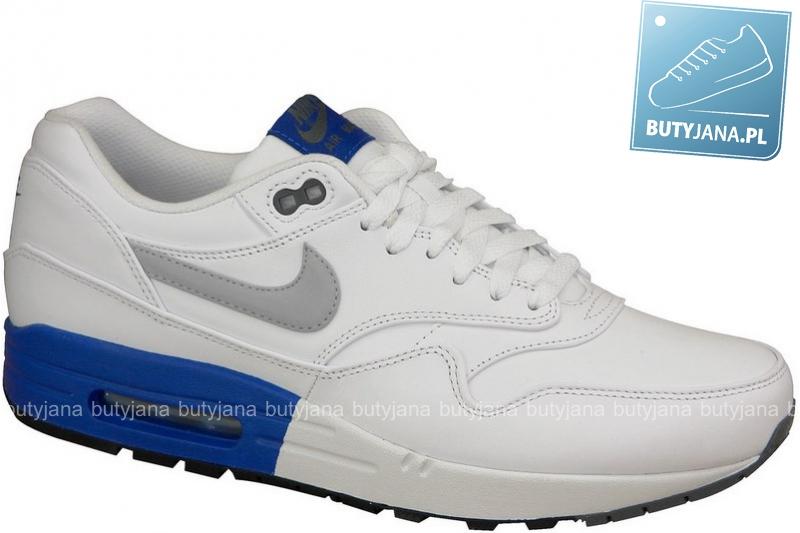 Nike Air Max 1 Prm 512033-102 -  biało niebieskie