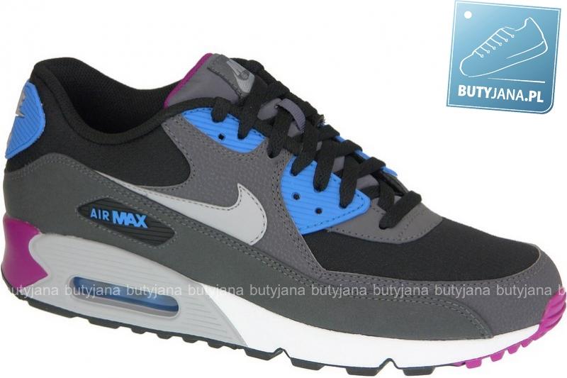 Nike Air Max 90 Essential 537384-009 szaro czarno niebieskie