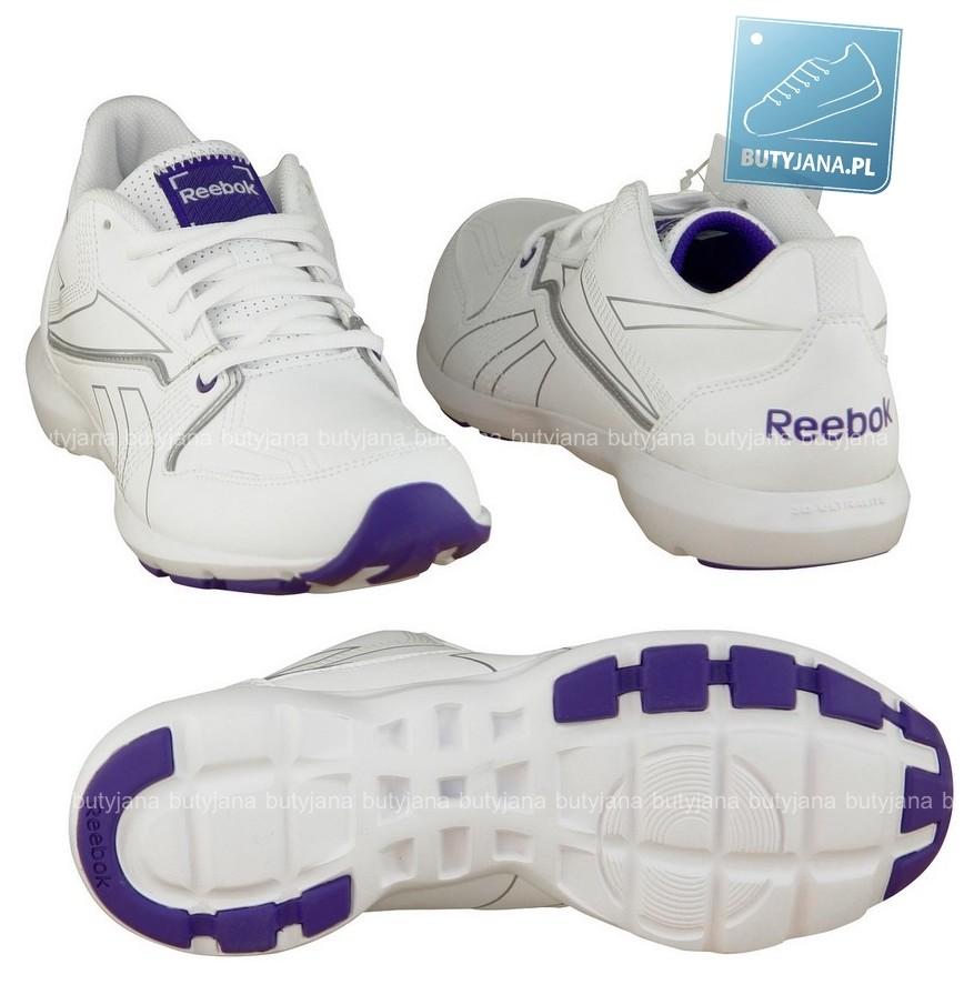 buty reebok do fitnessu białe