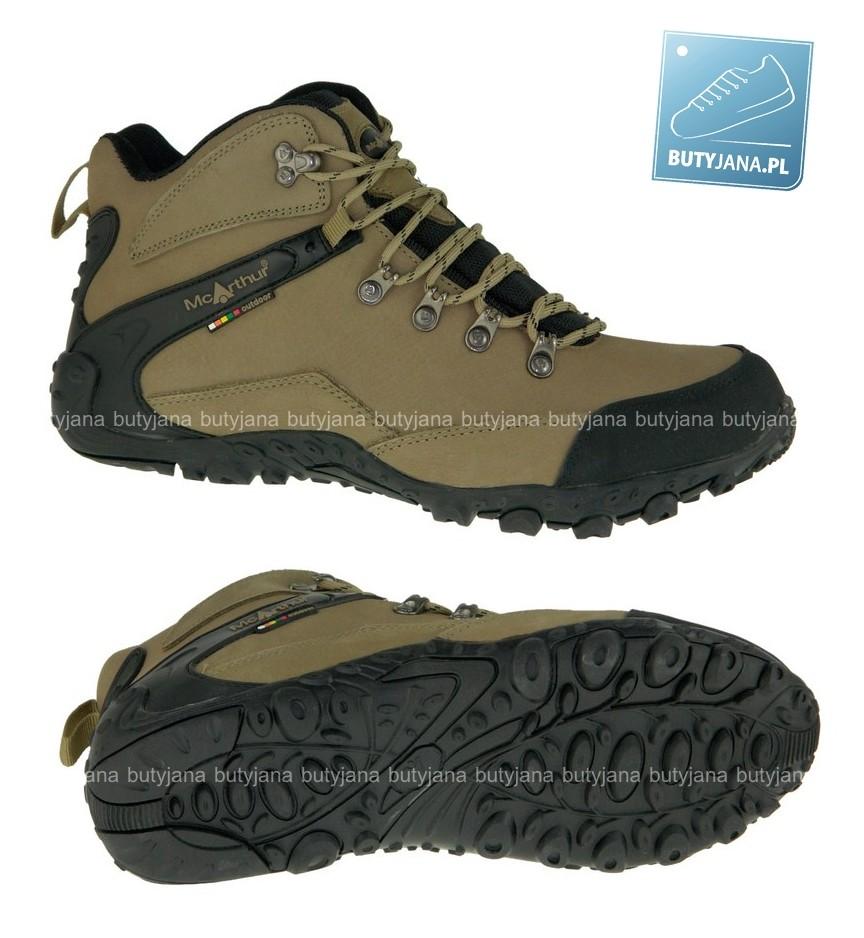 męskie buty trekkingowe bezowe