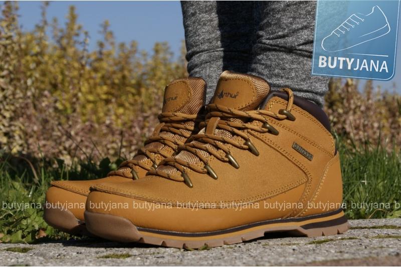 damskie buty zimowe macarthur brązowe, beżowe