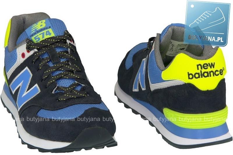 new balance 574 czarno niebiesko żółte