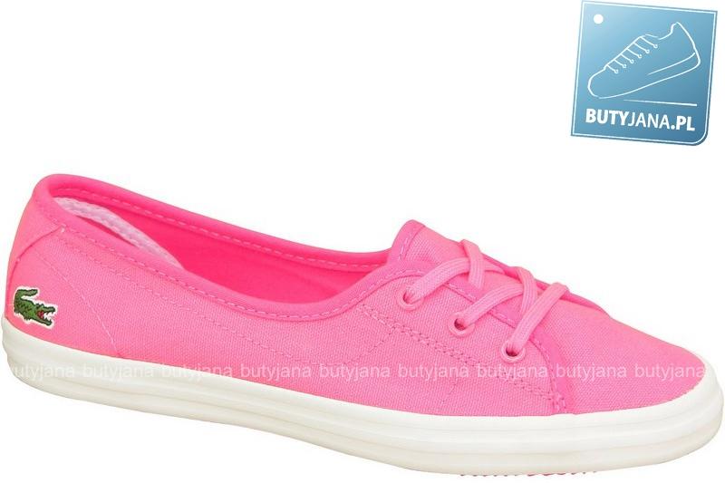 różowe tenisówki damskie lacoste ziane chunky