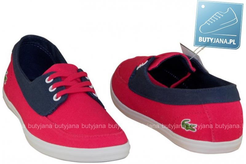tenisówki lacoste damskie czerwone