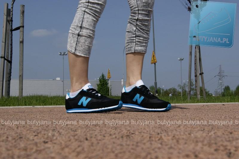 buty new balance 410 damskie czarno niebieskie