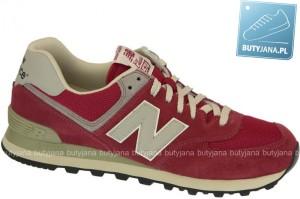 Buty New Balance ML574DRD Red White - wyprzedaż końcówek kolekcji na Butyjana.pl