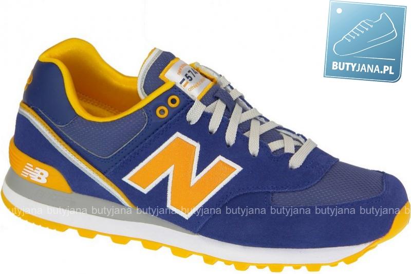 Buty New Balance ML574SKR Navy Yellow - końcówka kolekcji