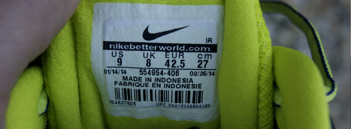 oryginalna metka made in indonesia w najkach