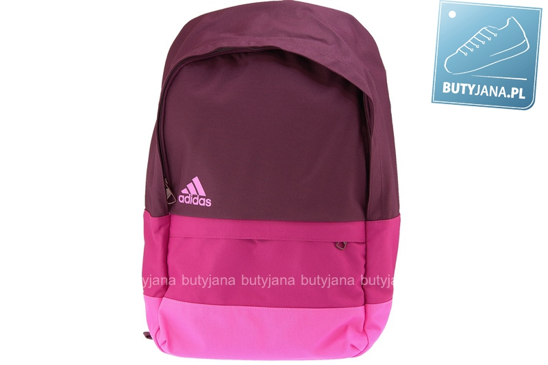 bordowo czerwony plecak dla dziewczynki adidas m66756