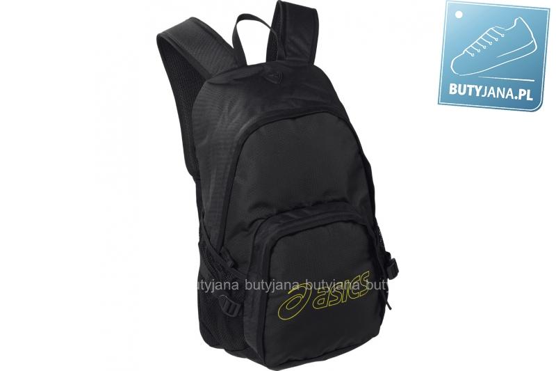 czarny plecak asics z profilowanymi szelkami - męski