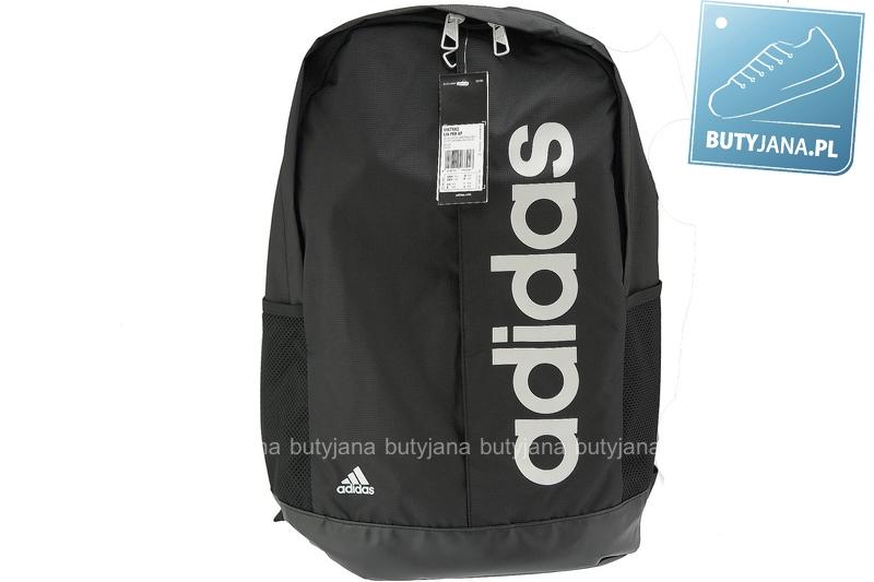 czarny plecak sportowy adidas z białym logo - męski