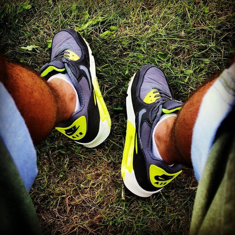 Patryk Każmierczak w Nike Air Max 90