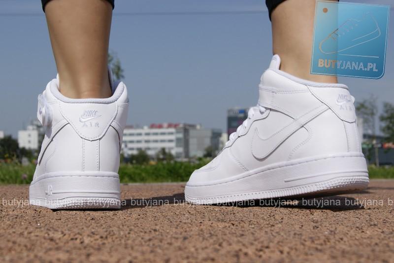 Nike Air force 1 MID gs 314195-113 - damskie białe